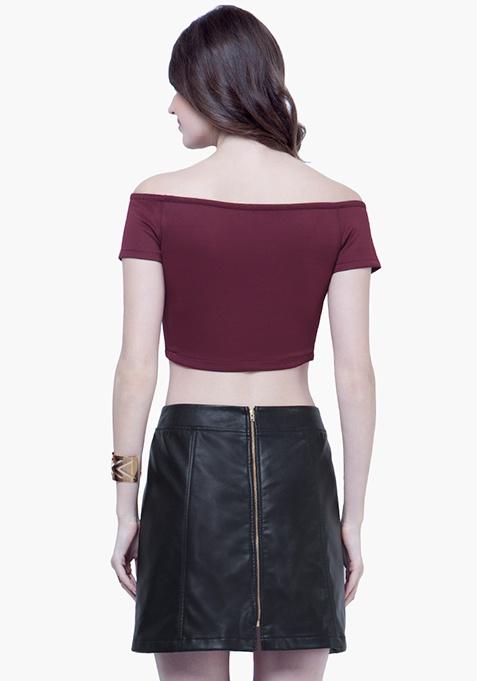 Leather Lass Mini Skirt - Black