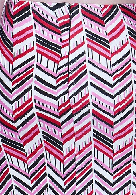 Chevron Craze Pencil Skirt