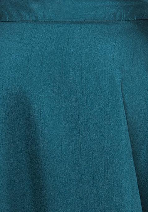 Silk Lush Maxi Skirt - Teal