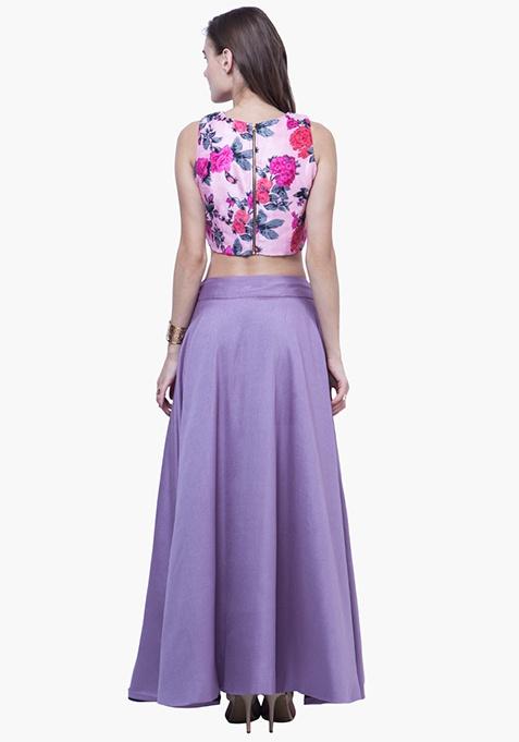 Silk Lush Maxi Skirt - Lavender