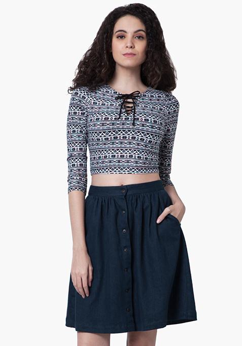 Denim Days Midi Skirt - Dark Wash