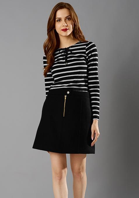 Warm Vibes Mini Skirt - Black