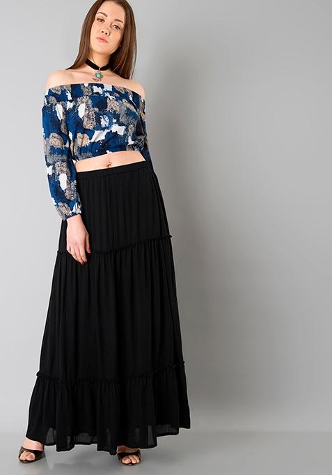 Teir Maxi Skirt - Black