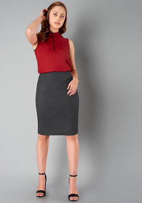 CLASSICS Pencil Skirt - Grey