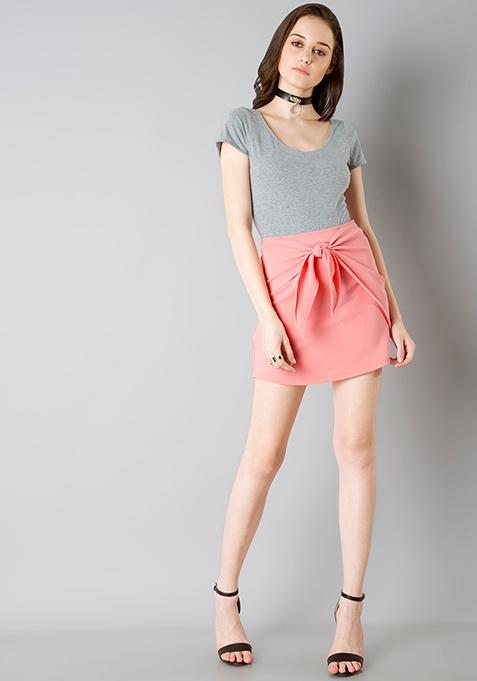 Knotty Mini Skirt - Pink