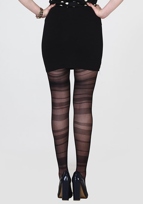 Spaced Out Stripe Stockings