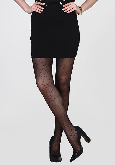 Black Spotted Stockings