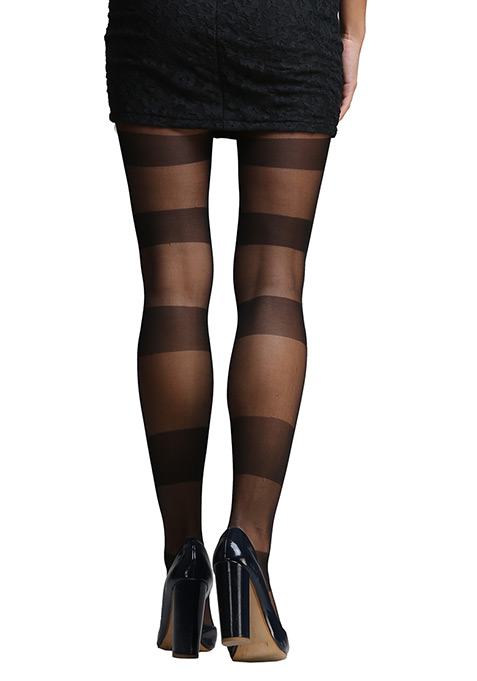 Wide Stripe Stockings
