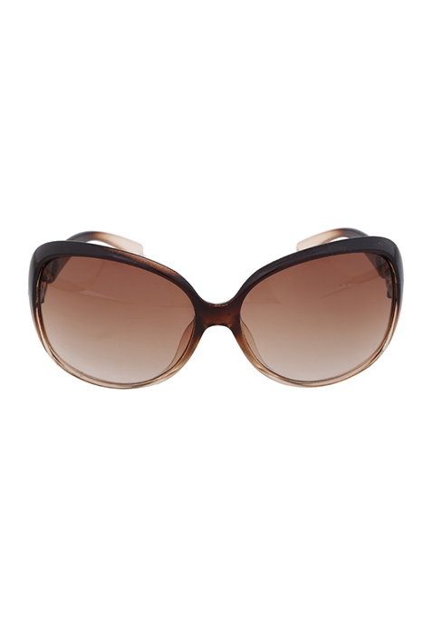 Classic Oversized Sunglasses - Brown