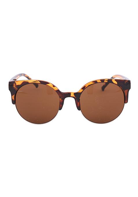 Tortoise Shell Kitten Eye Sunglasses