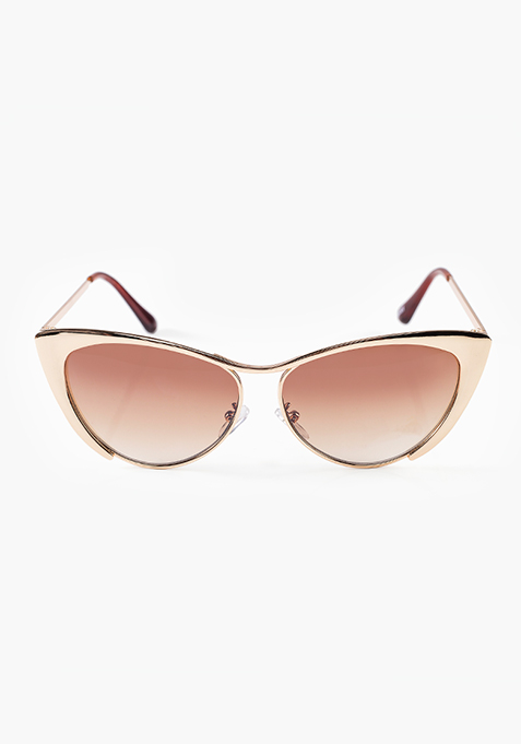 Cool Cat Sunglasses - Gold