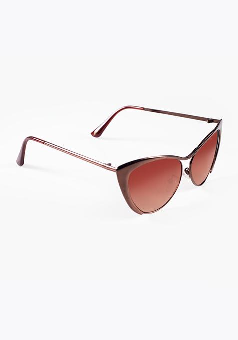 Cool Cat Sunglasses - Brown