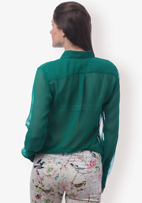 Sheer Emerald Shirt