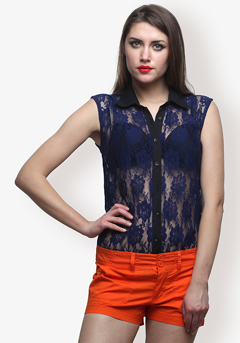Cobalt Eternal Lace Shirt