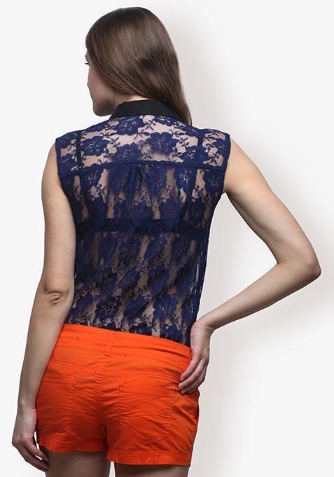 Cobalt Eternal Lace Shirt