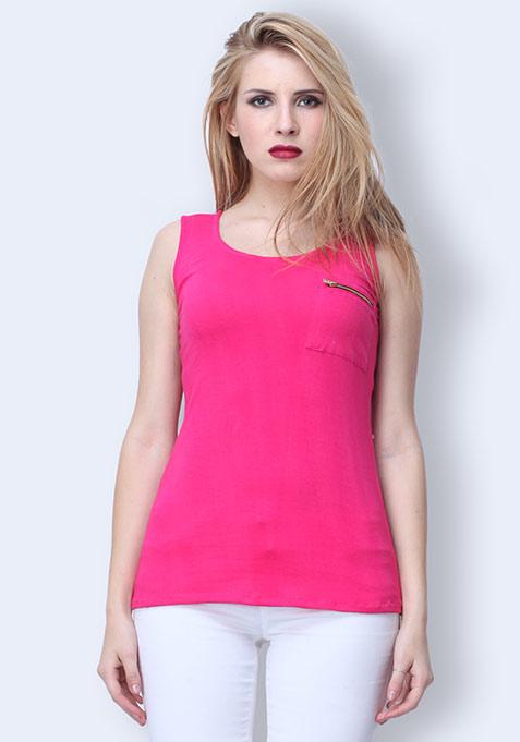 Pop Knit Tank - Pink