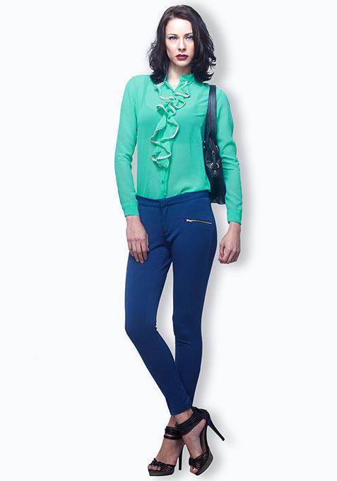 Girl Talk Shirt - Turquoise