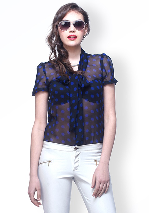 Dark Dots Blouse