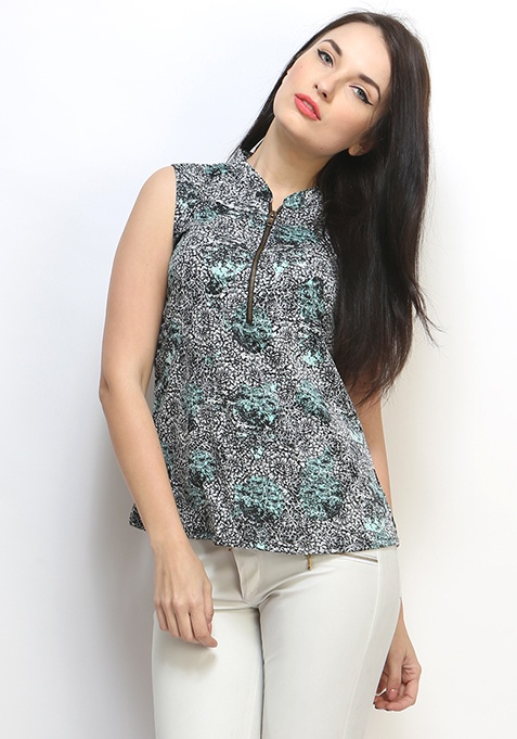 Painted Blooms Blouse