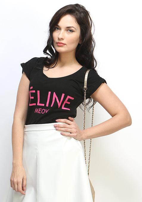 Feline Tee - Black