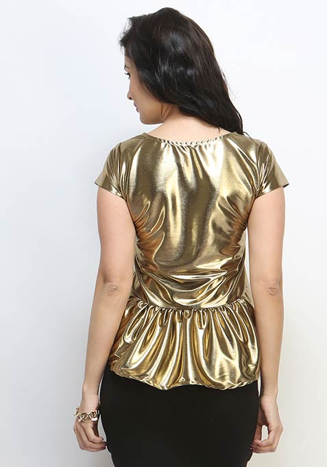 Peplum Shine Blouse