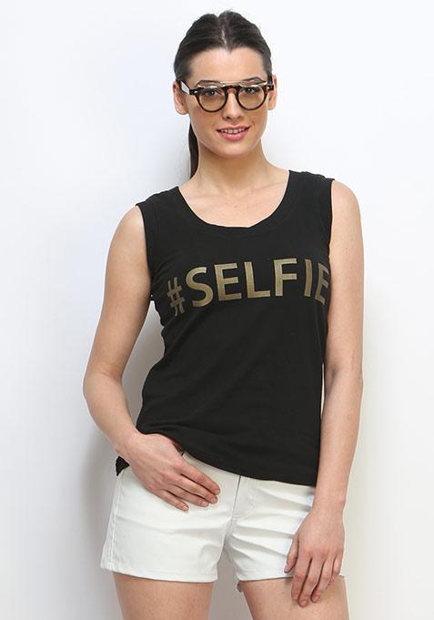 Selfie Muscle Tee - Black