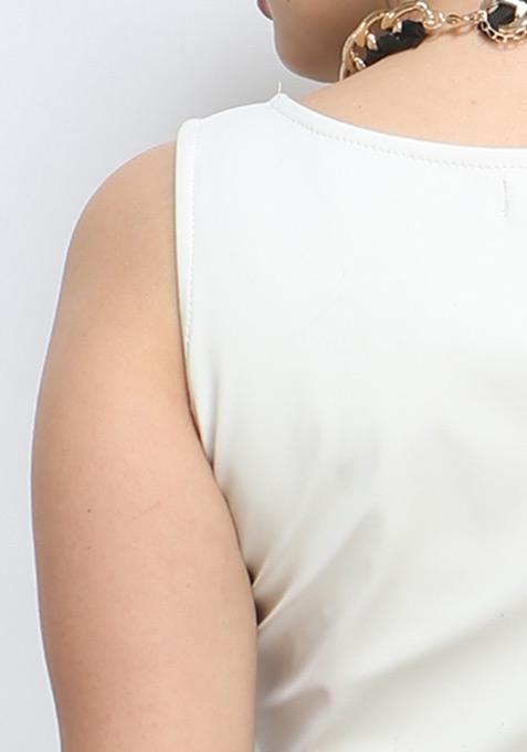 Tough Punch Crop Top - White