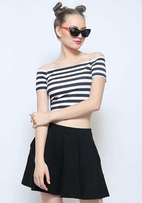 Slick Stripes Crop Top