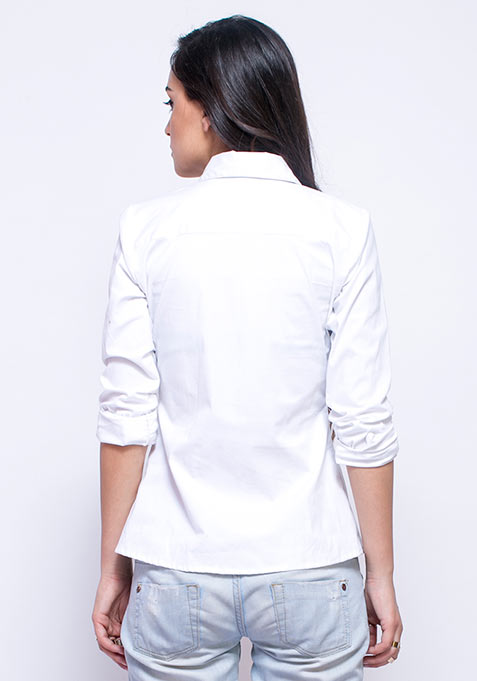 Crisp White Cotton Shirt Online | Women's | FabAlley.com