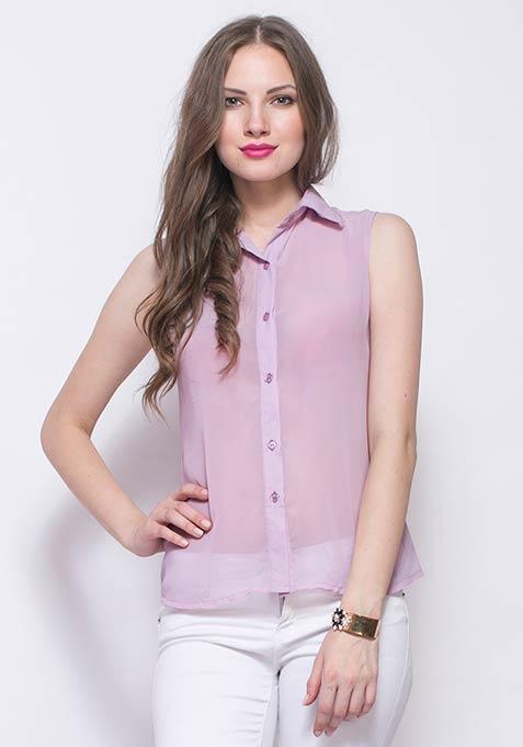 Summer Story Shirt - Lilac