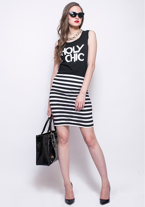 Holy Chic Muscle Tee - Black