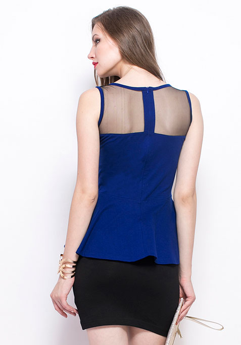 Cobalt Dash Peplum Top