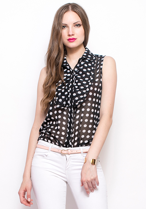 Ruffled Up Shirt - Polka