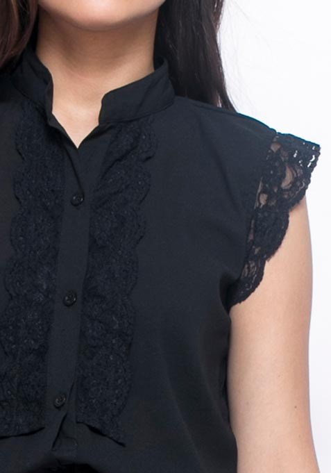 Cutting Close Shirt - Black