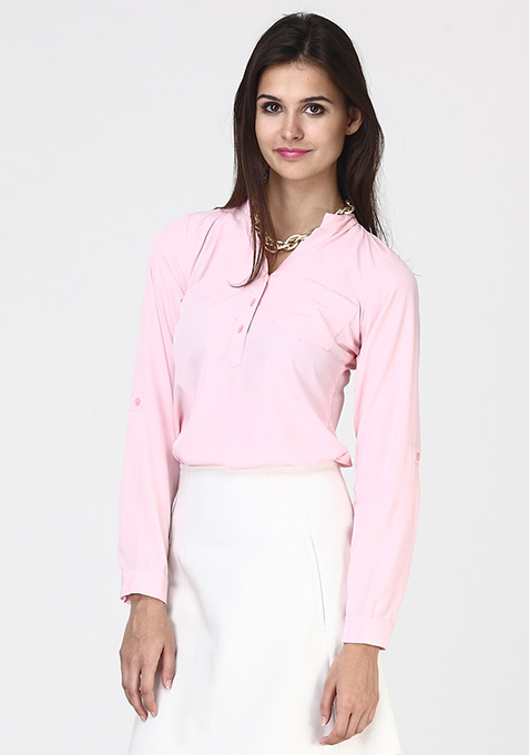 Back Up Shirt - Blush