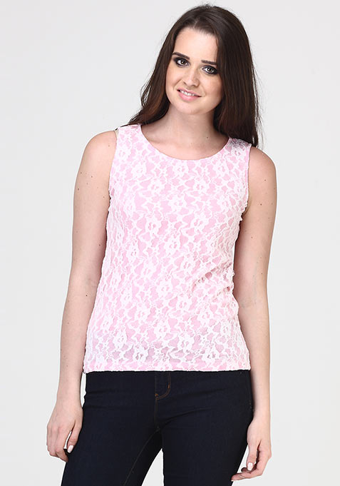 Pastel Tones Lace Top