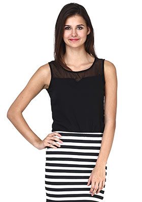 Black Blanche Top
