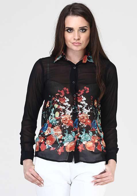 Mirror Flower Shirt