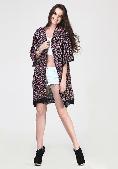 Ditsy Dazzle Kimono