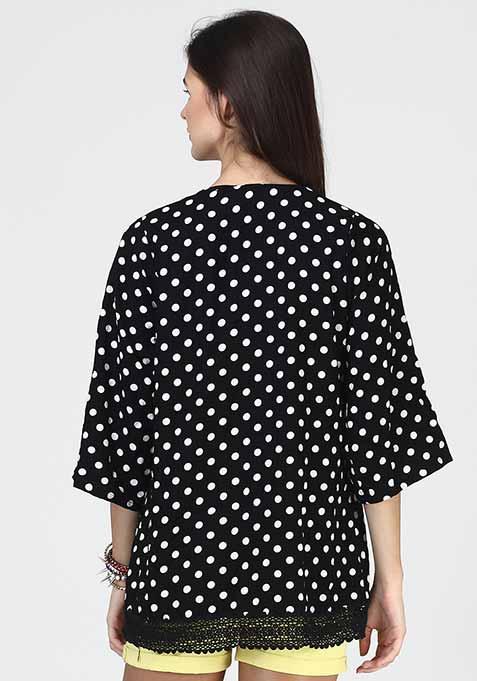 Polka Allure Kimono