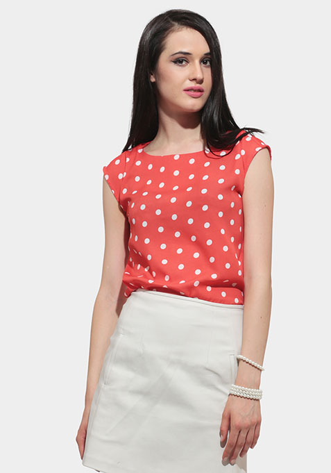 Dotted Punch Blouse