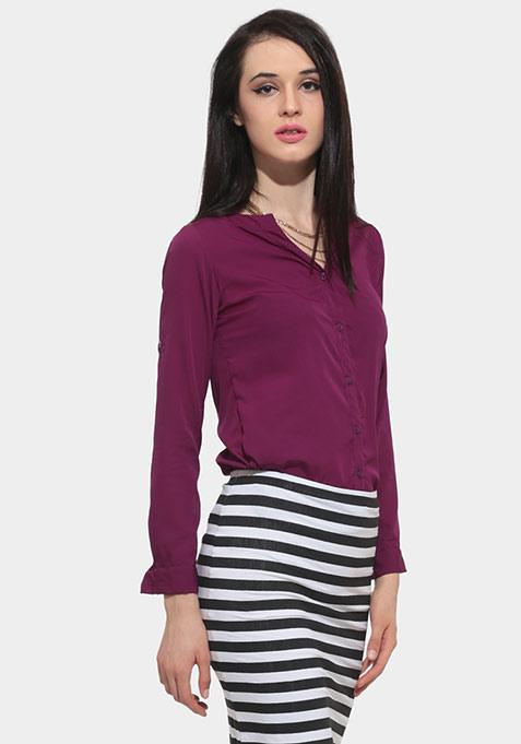 Deep Fall Shirt - Purple