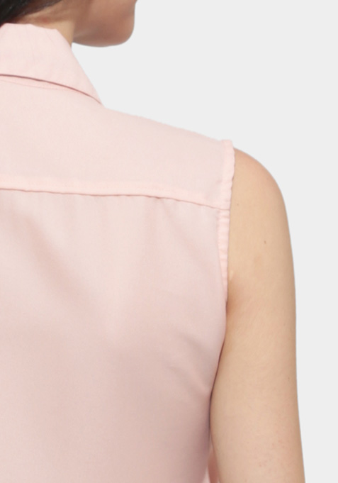 Hot Knot Blouse - Pink