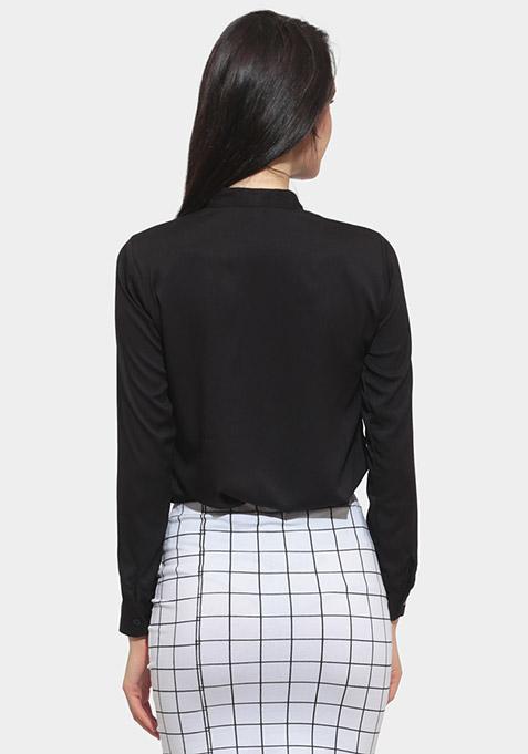 Sheer Sight Black Shirt