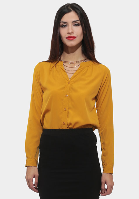 Deep Fall Shirt - Mustard