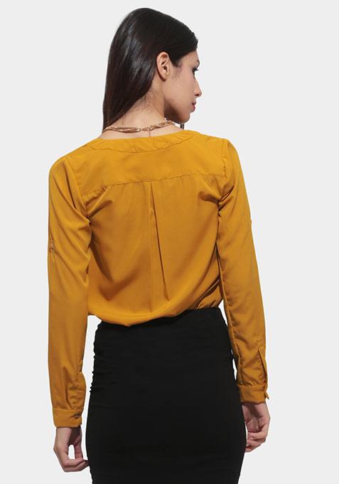 Deep Fall Shirt - Mustard