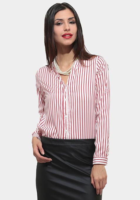 Stripe Affair Shirt - Red