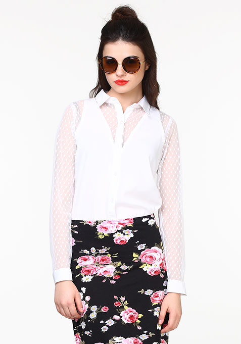 Sheer Mischief Shirt - White