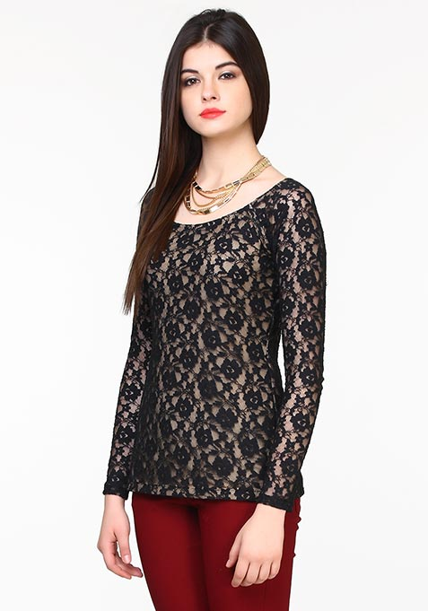 Lace Luxe Top - Black