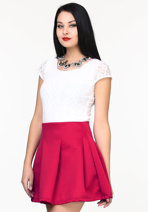 Lace This Top - White
